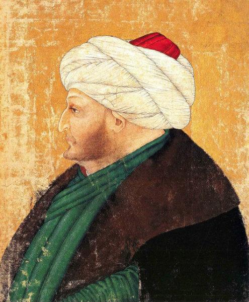 3-Costanzo da Ferrara , Ritratto di Mehmet II, Libreria del Topkapı Sarayi_Album_145ba.jpg