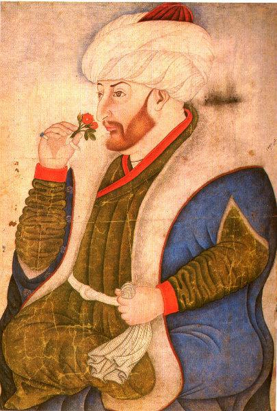 4-Sinan Bey  Ritratto di Mehmet II, miniatura, Libreria del Topkapı Sarayi_Album_10a.jpg